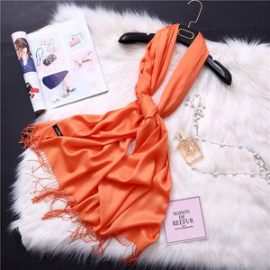 Pashmina Scarves - orange | HERS.BOUTIQUE