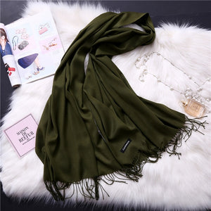 Pashmina Scarves - Army green | HERS.BOUTIQUE