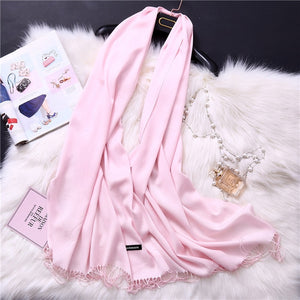 Pashmina Scarves - light pink | HERS.BOUTIQUE