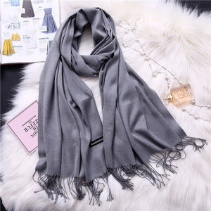 Pashmina Scarves - gray | HERS.BOUTIQUE