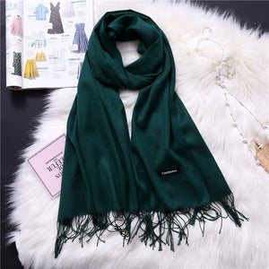 Pashmina Scarves - Bottle Green | HERS.BOUTIQUE