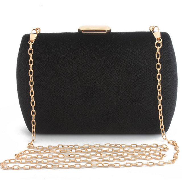 Elegant Suede Party Clutch -  | HERS.BOUTIQUE