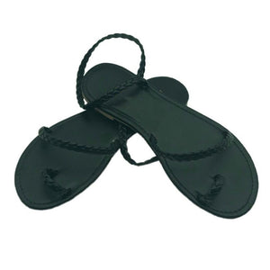 MCCKLE Thong Sandals - Black / 6 | HERS.BOUTIQUE