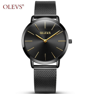 Olevs Woman Watch - Black | HERS.BOUTIQUE
