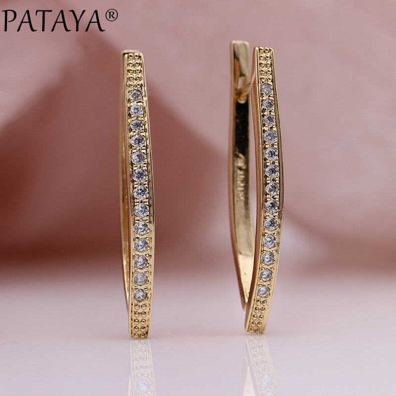 PATAYA V Shape Long Earrings -  | HERS.BOUTIQUE