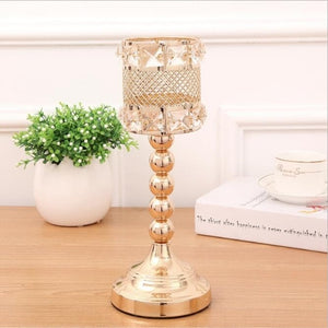 Elegant Gold Candle Holders - M / Gold | HERS.BOUTIQUE