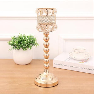 Elegant Gold Candle Holders - L / Gold | HERS.BOUTIQUE