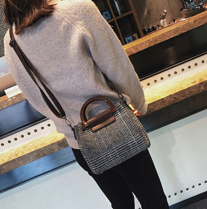 Casual Woolen Crossbody Bag -  | HERS.BOUTIQUE
