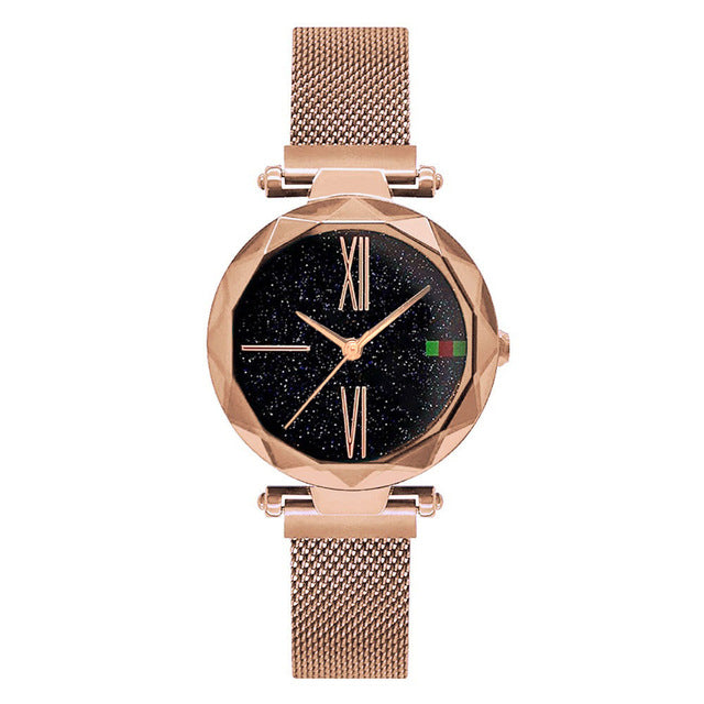 Luxury Rose Gold Women Watches - Purple | HERS.BOUTIQUE