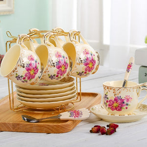 British Tea Cup Set - 6 CUPS 2 / Off White | HERS.BOUTIQUE
