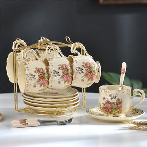 British Tea Cup Set - 6 CUPS / Off White | HERS.BOUTIQUE