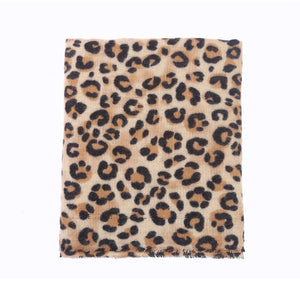 Leopard Print Scarf - Brown | HERS.BOUTIQUE
