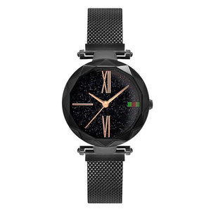 Luxury Rose Gold Women Watches - Black | HERS.BOUTIQUE