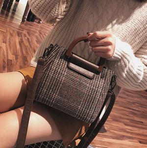 Casual Woolen Crossbody Bag - Brown | HERS.BOUTIQUE
