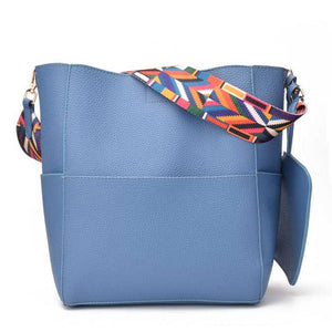 Bucket Shoulder Bag - Blue | HERS.BOUTIQUE