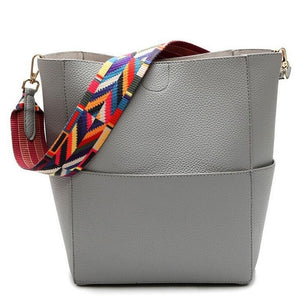 Bucket Shoulder Bag - Gray | HERS.BOUTIQUE