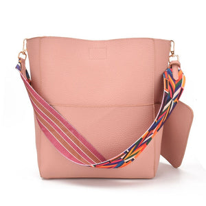 Bucket Shoulder Bag - Pink | HERS.BOUTIQUE