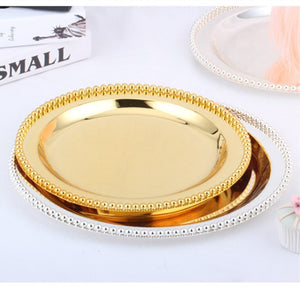 Silver/Gold Decorative Plates -  | HERS.BOUTIQUE