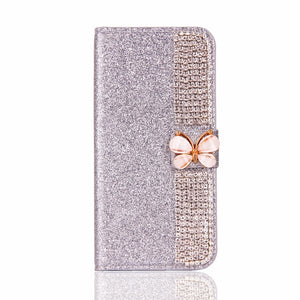 Decorative Leather IPhone 7 Plus Case - Silver | HERS.BOUTIQUE