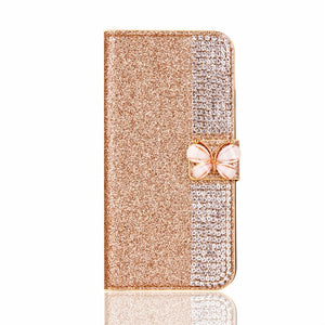 Decorative Leather IPhone 7 Plus Case - Gold White | HERS.BOUTIQUE