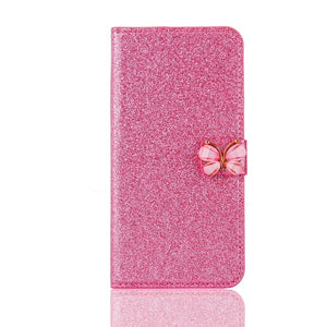 Decorative Leather IPhone 7 Plus Case - Pink | HERS.BOUTIQUE
