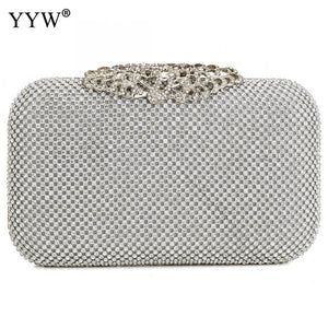 Jasmine Wedding Clutch - silver | HERS.BOUTIQUE