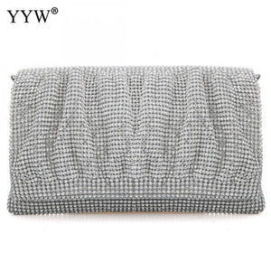 Yamika Evening Clutches - silver | HERS.BOUTIQUE