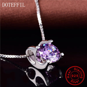 DOTEFFIL Sterling Silver Pendant - Purple | HERS.BOUTIQUE