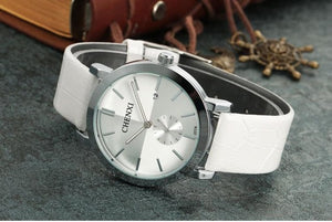 Chenxi Genuine Leather - Silver White | HERS.BOUTIQUE