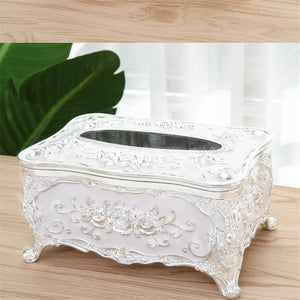 Decorative Tissue Box - Silver | HERS.BOUTIQUE
