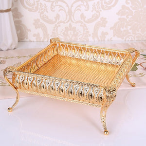 European Luxurious Trays - Gold 2 | HERS.BOUTIQUE