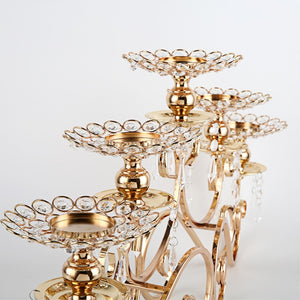 Golden Centerpiece Candle Holder -  | HERS.BOUTIQUE