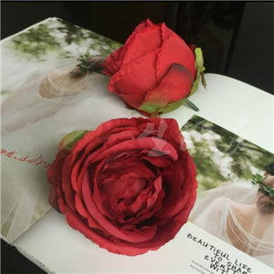 Artificial Rose Flower - Red / M | HERS.BOUTIQUE