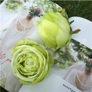 Artificial Rose Flower - Green / M | HERS.BOUTIQUE