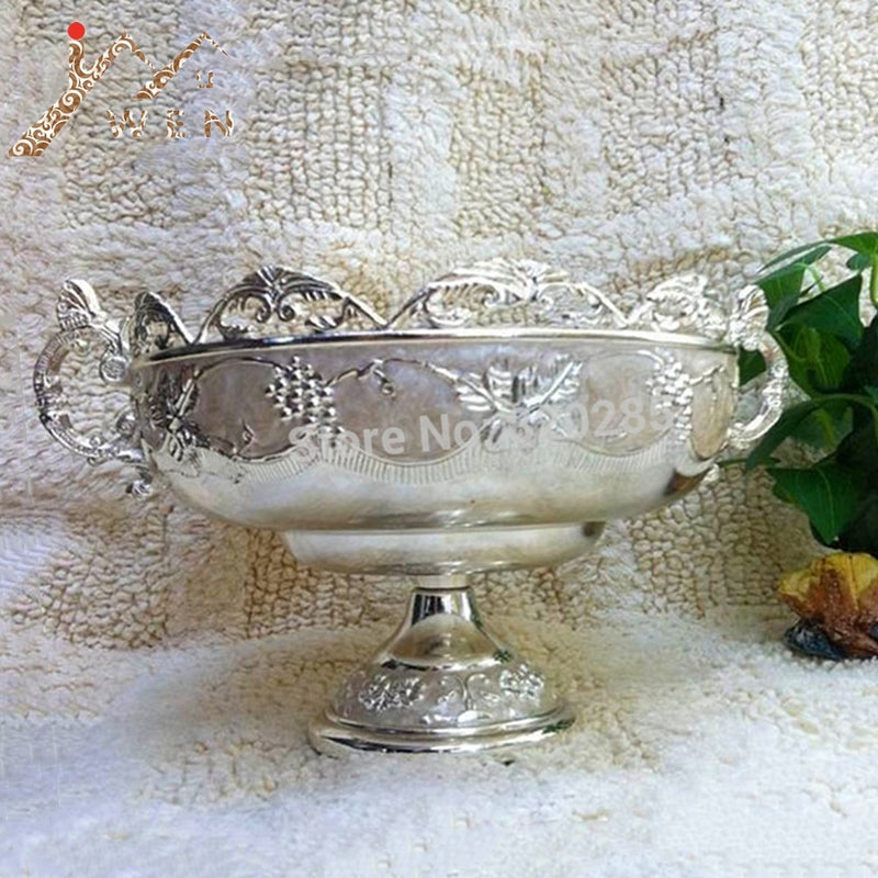 Silver finish metal  Bowl - Silver | HERS.BOUTIQUE