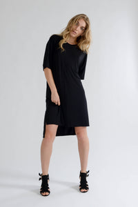Black Oversized T Shirt Dress