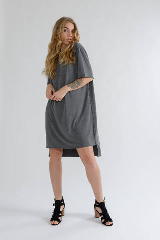 Charcoal Oversized T Shirt Dress