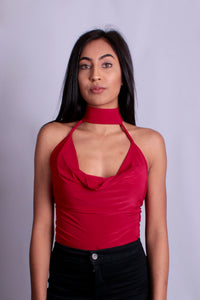 Red Slinky Bodysuit with Choker