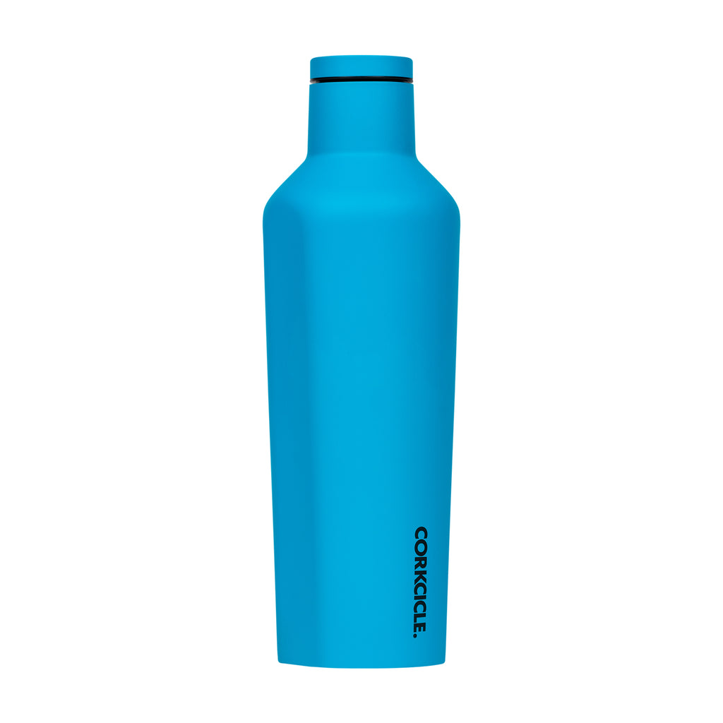 Corkcicle 16 oz Canteen Neon Blue