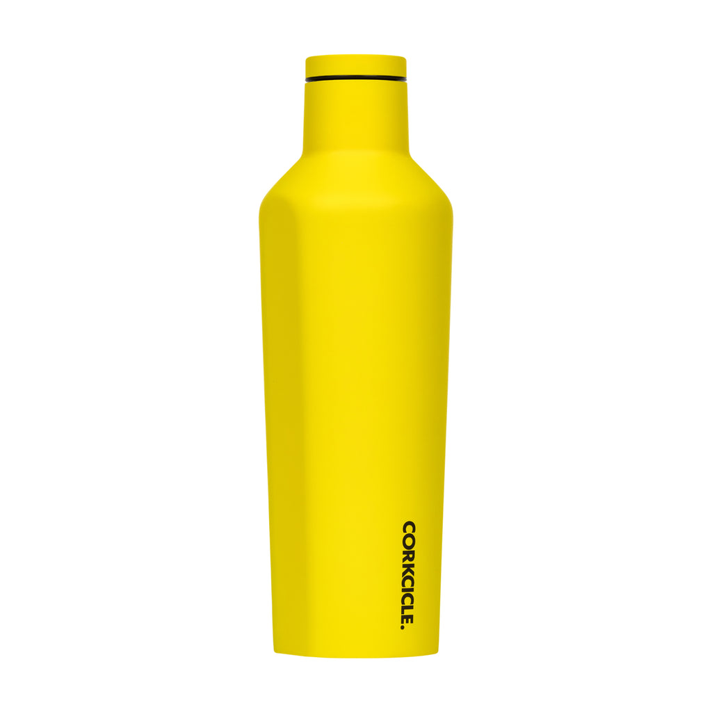 Corkcicle 16 oz Canteen Neon Yellow