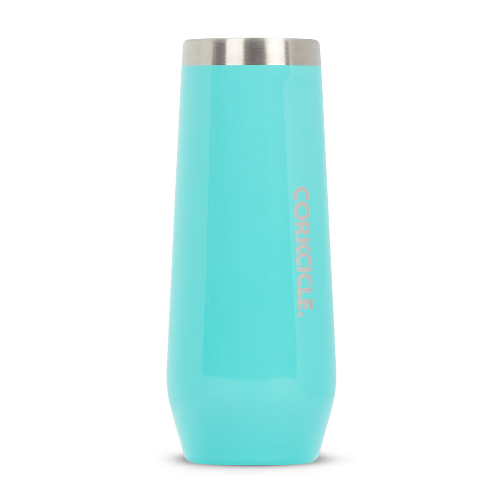 Corkcicle 7 oz Stemless Flute Turquoise