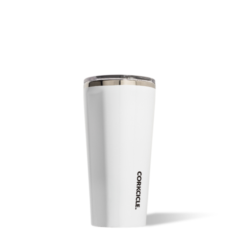 Corkcicle 16 oz Tumbler Gloss White
