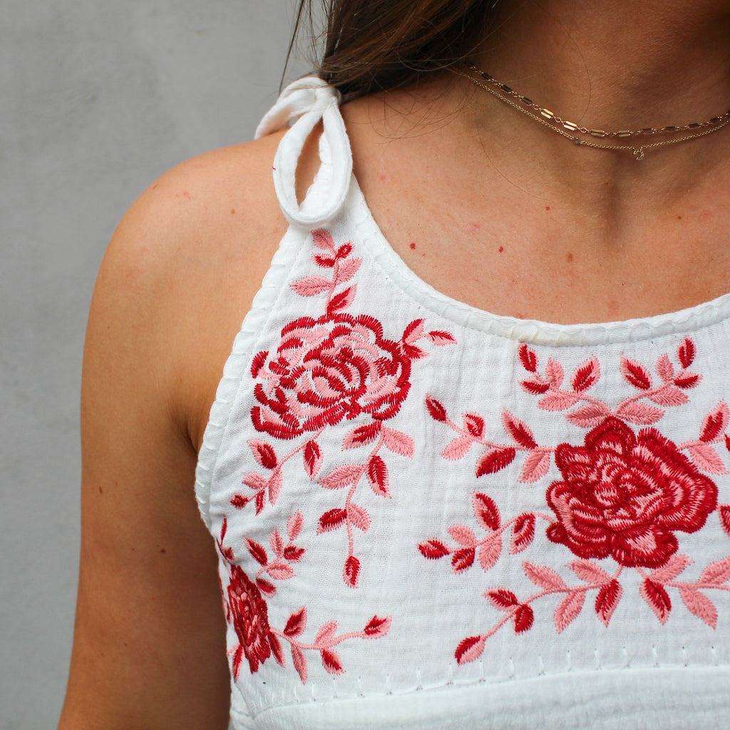 Callie Embroidered Tank Top
