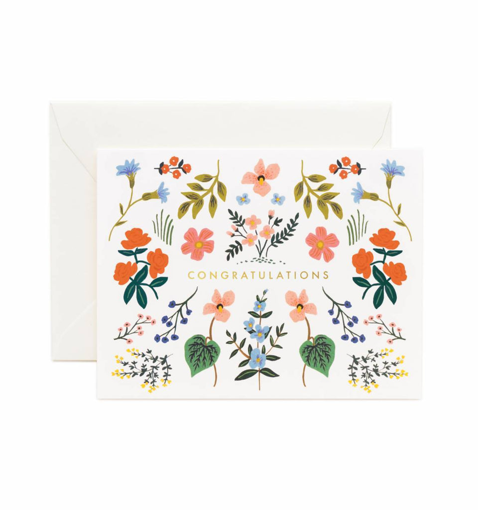 Rifle Paper Co. Wildwood Congratulations Greeting Card