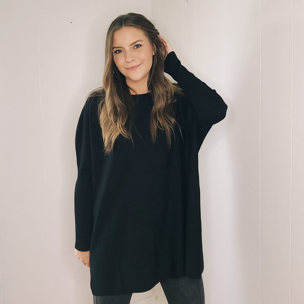 Salem Sweater Tunic in Black