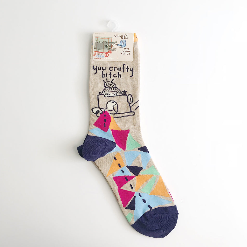 Blue Q Crafty B*tch Women's Crew Socks
