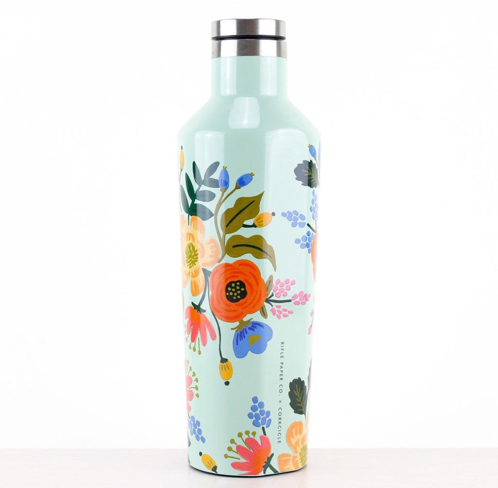 Corkcicle x Rifle Paper Co. 16 oz. Canteen in Lively Floral