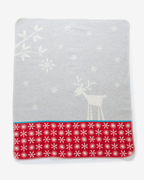 Reindeer and Snowflakes Blanket