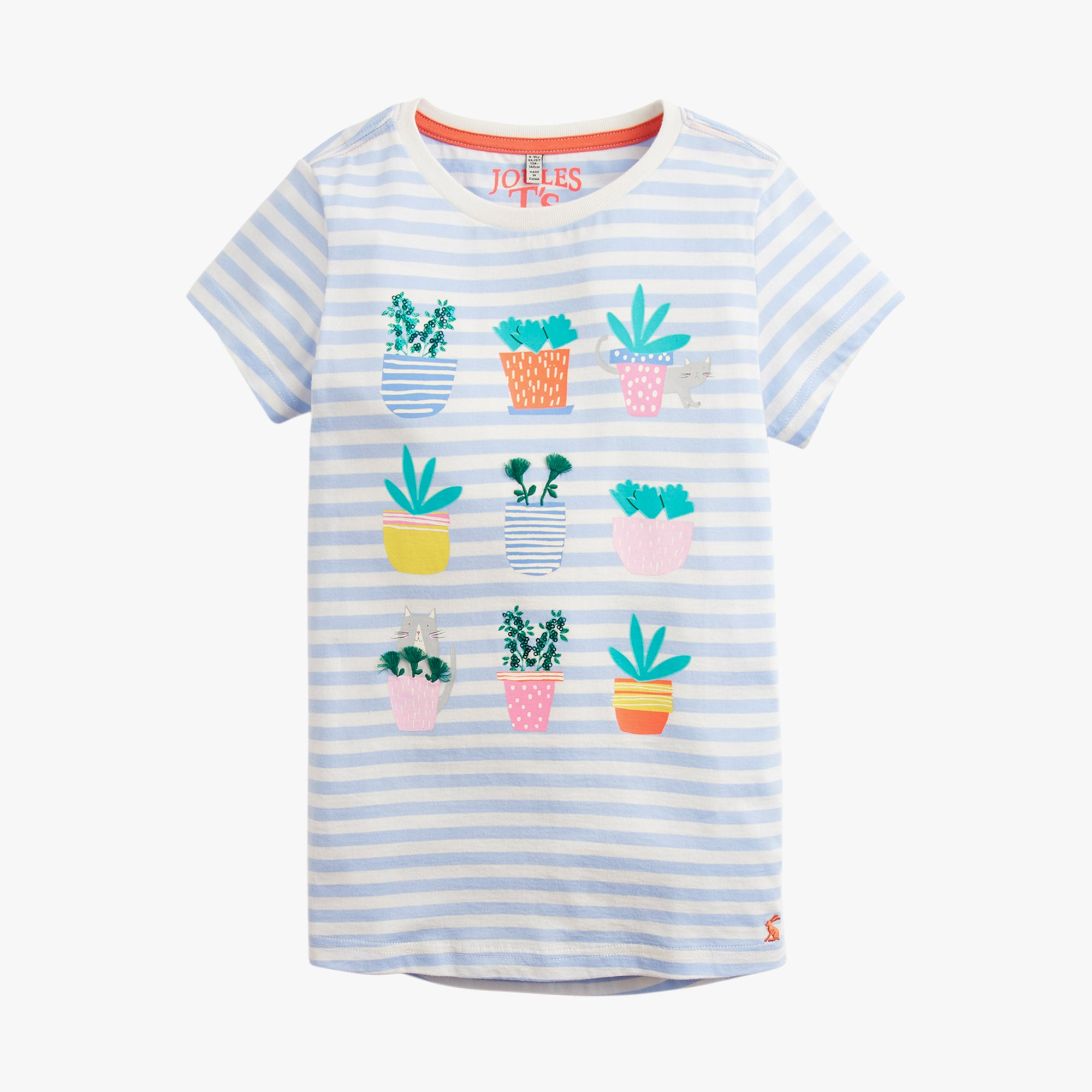 Striped Succulent Tee