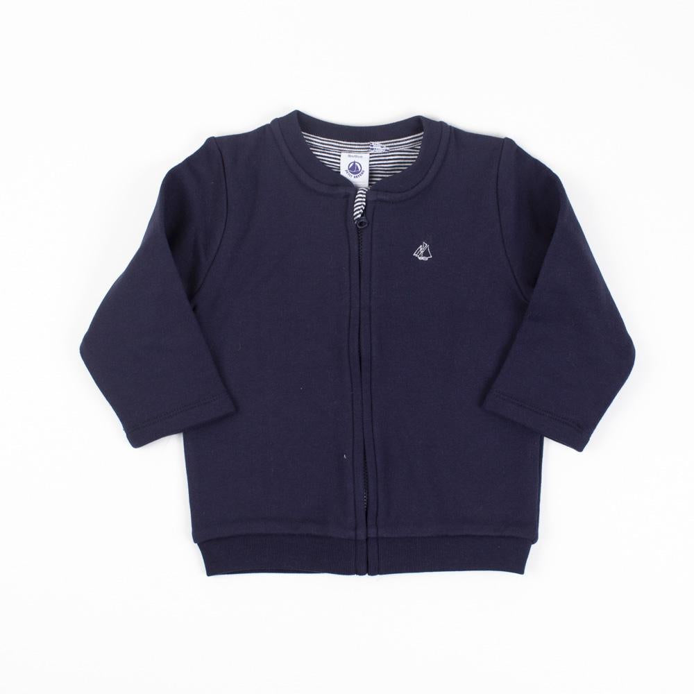 Navy Zipped Sweatshirt